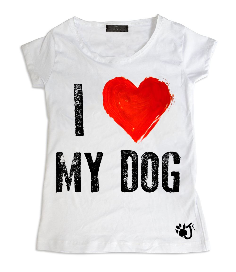 T-Shirt Donna - I love my dog | Oji Italia