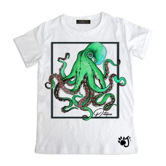 T Shirt Bambino So006 Octopus