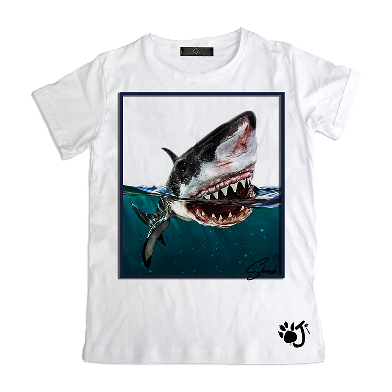 T Shirt Uomo Su011 Shark