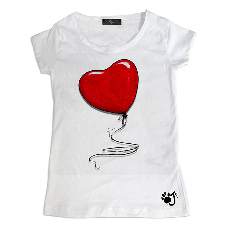 T-Shirt bambina Heart Balloon