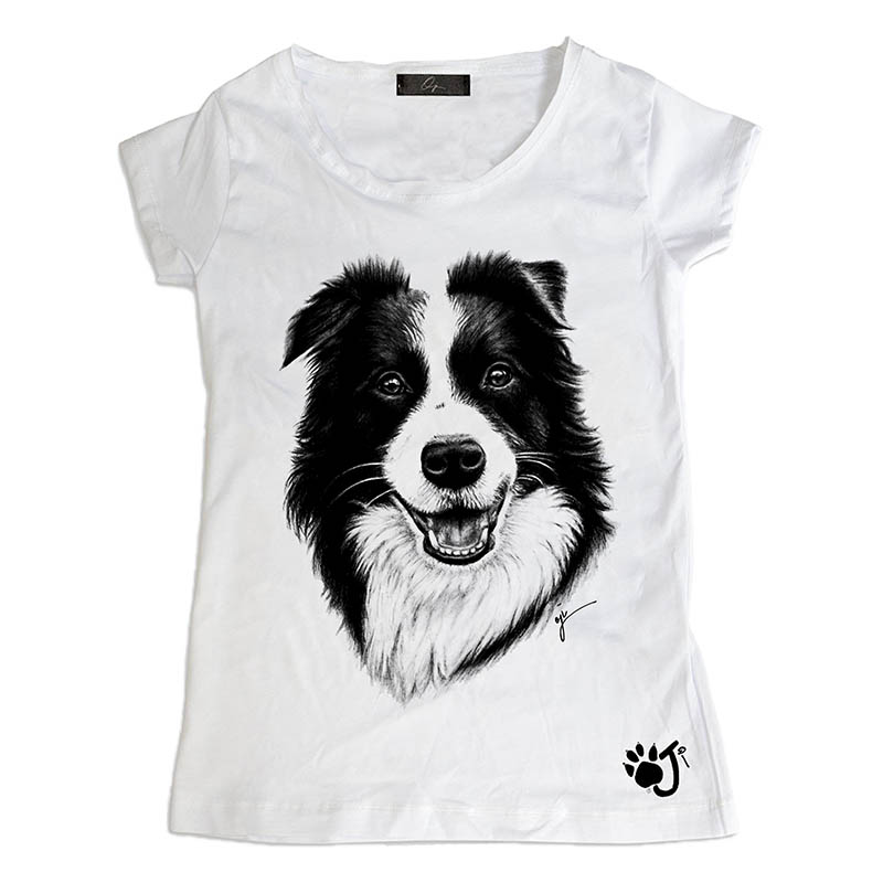 T Shirt Donna Dcd009 Border Collie