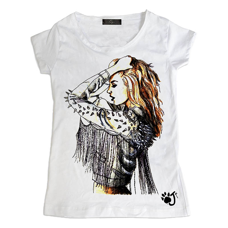 T Shirt Donna Hd072 Pin Up Borchie