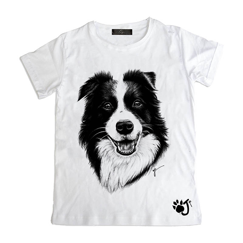 T Shirt Uomo Dcu009 Border Collie